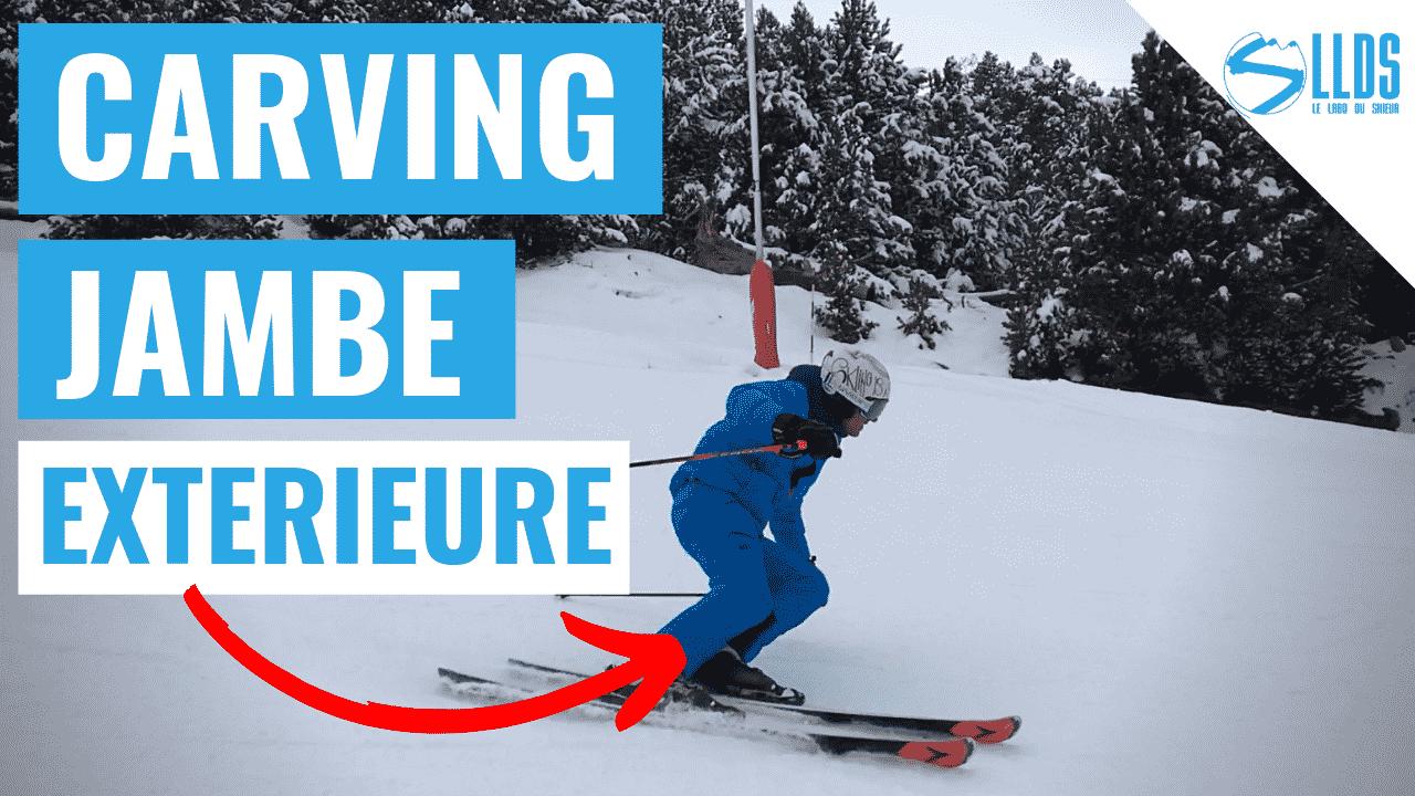 Ski carving - comment perfectionner le début de virage et l'action de la jambe extérieure